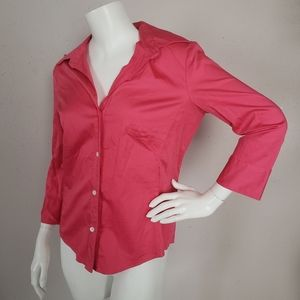 Banana Republic Pink Blouse Size M Button Down
